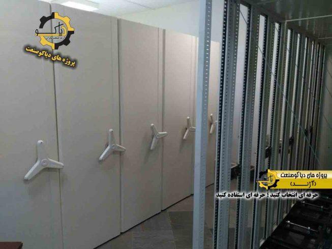 قفسه ریلی بایگانی-تولید کننده قفسه ریلی بایگانی