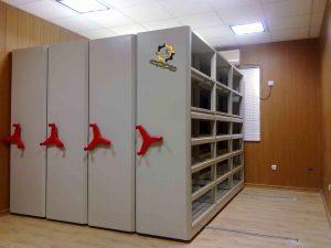 قفسه ریلی بایگانی با حذف راهرو بیشترین فضای بایگانی را ارائه میدهد