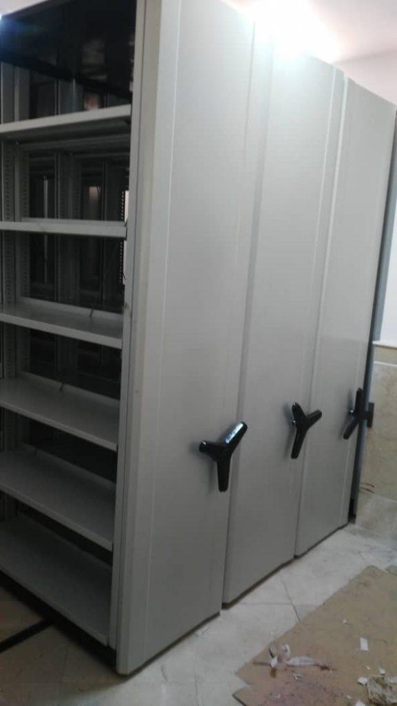 قفسه ریلی بایگانی و کمد شش درب